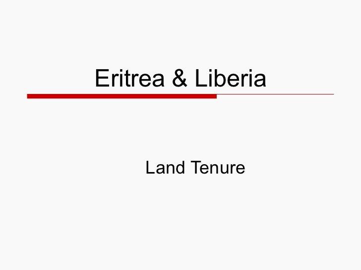 Eritrea&liberia