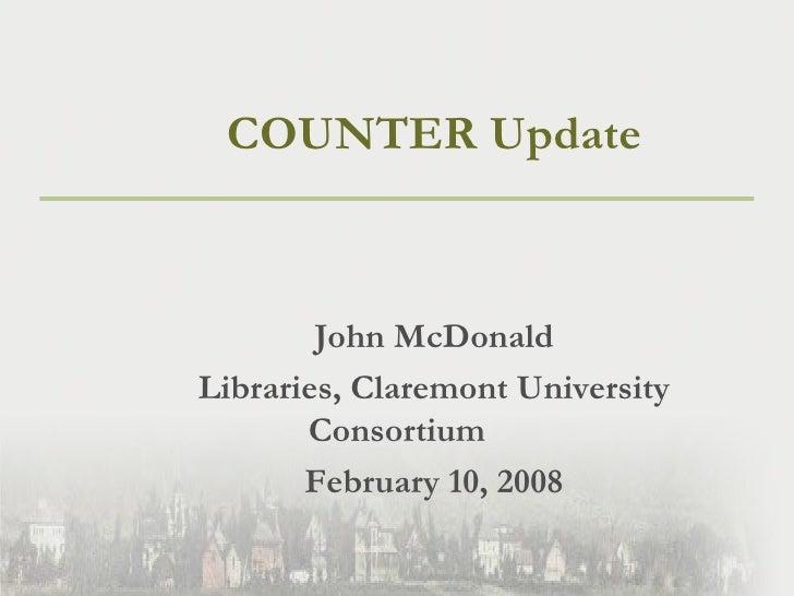 COUNTER Update