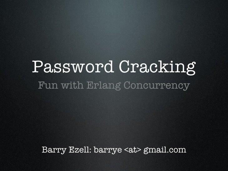 Erlang Concurrency