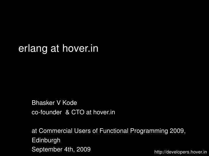 hover.in at CUFP 2009
