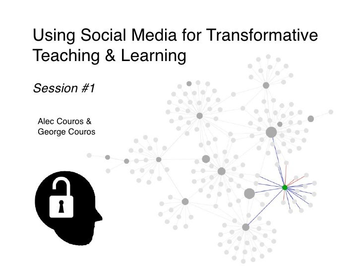 Using Social Media for Transformative Teaching & Learning