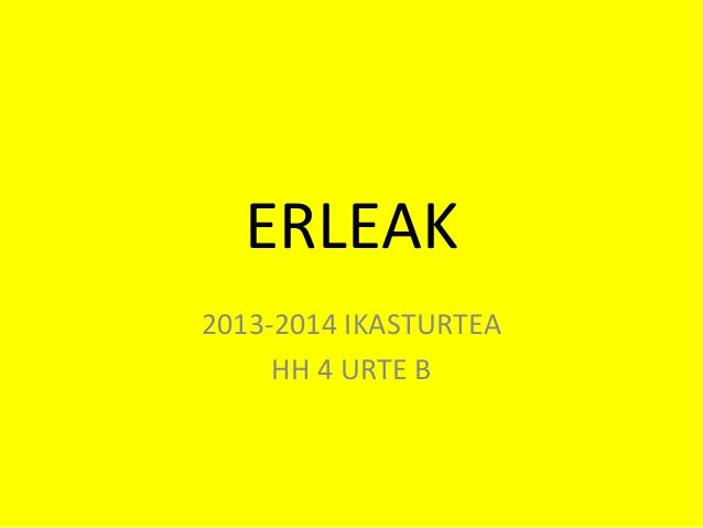 ERLEAK 2013-2014 IKASTURTEA HH 4 URTE B