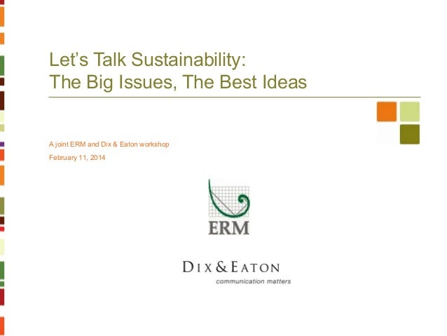 Erm dix&eaton sustainability 021114