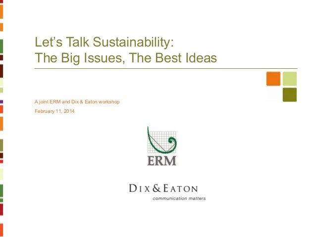 Erm dix&eaton sustainability 021114