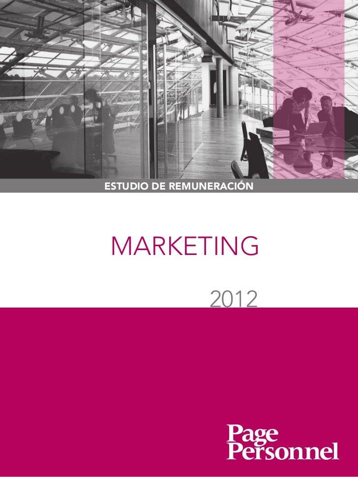 ESTUDIO DE REMUNERACIÓNMARKETING                2012