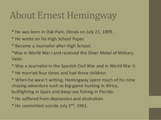 Ernest Hemingway common theme in his works?