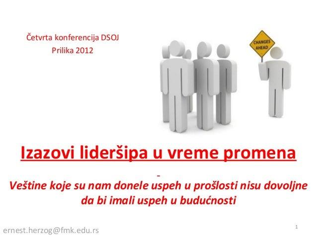 prof. Ernest Herzog - prezentacija PRilika 2012