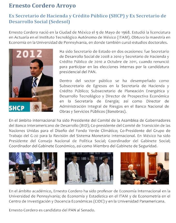 Biografía Ernesto Cordero Arroyo
