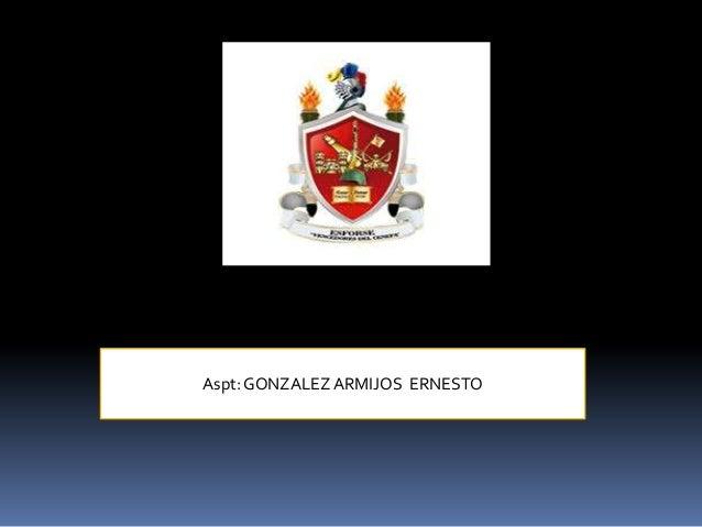 Aspt:GONZALEZARMIJOS ERNESTO