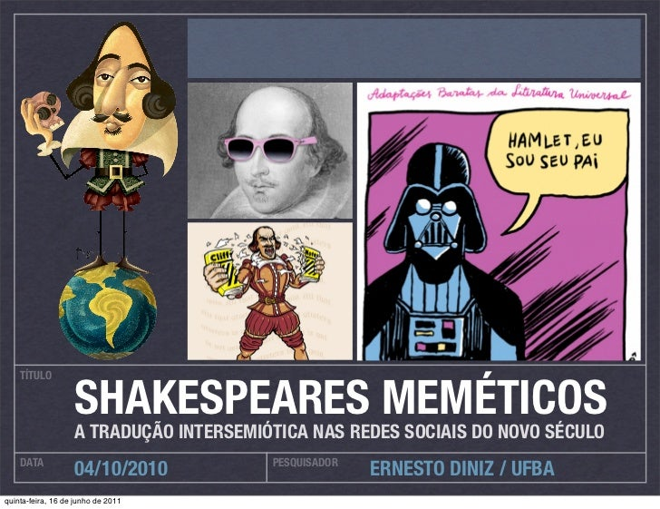 Shakespeares meméticos, a Tradução Intersemiótica nas redes sociais do novo século