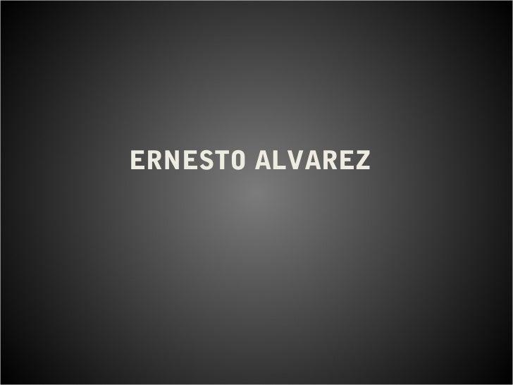 Ernesto álvarez
