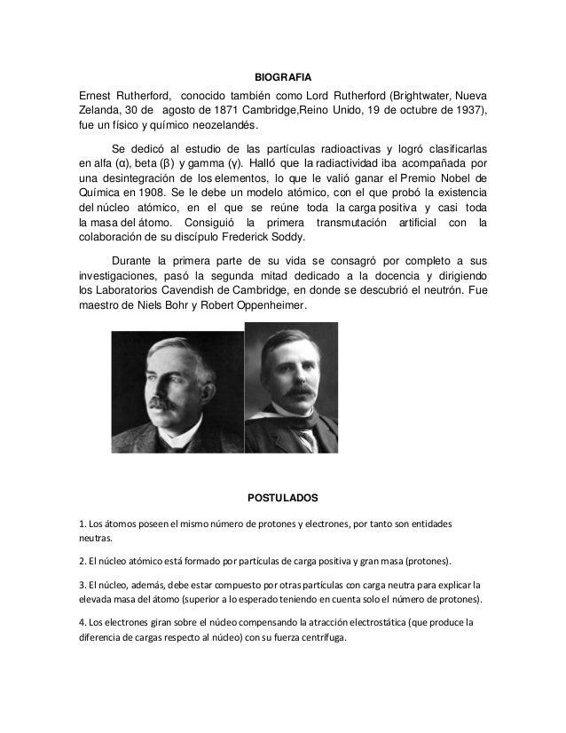 Biografia De Ernest Rutherford Biografias Y Vidas Com