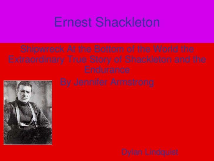 Ernest shackleton courage project
