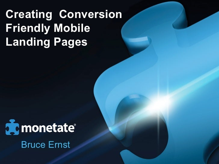 Creating Conversion Friendly Mobile Landing Pages
