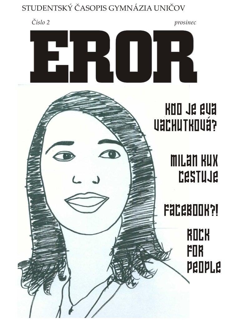 EROR č. 2 - studentský časopis (Gymnázium Uničov)