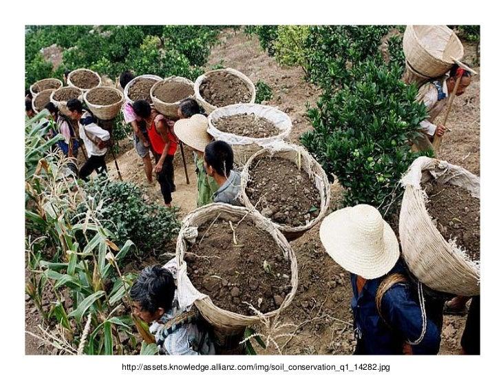 Soil erosion for Soil conservation act