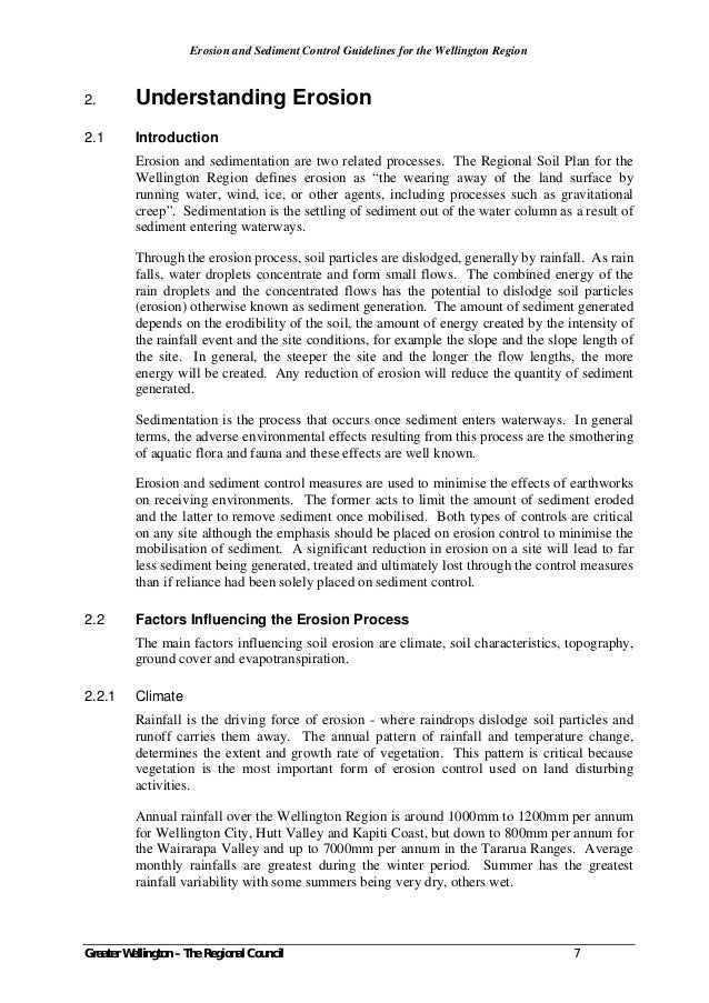 erosion and sediment control guidelines for the canterbury region