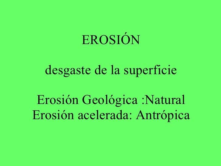 Erosion HIDRICA