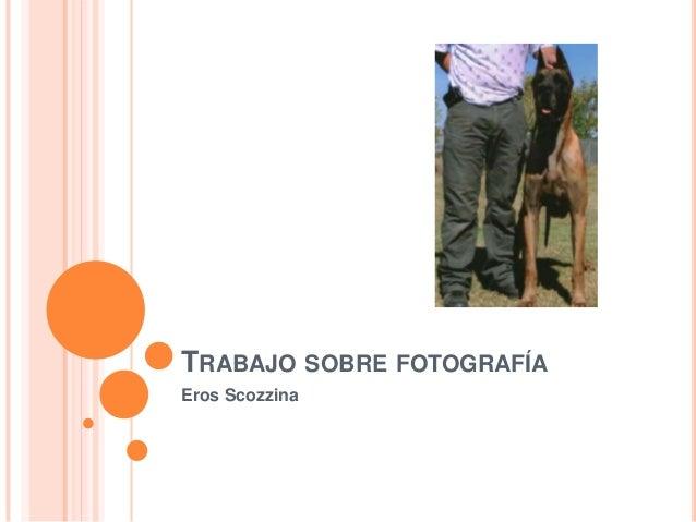 TRABAJO SOBRE FOTOGRAFÍAEros Scozzina