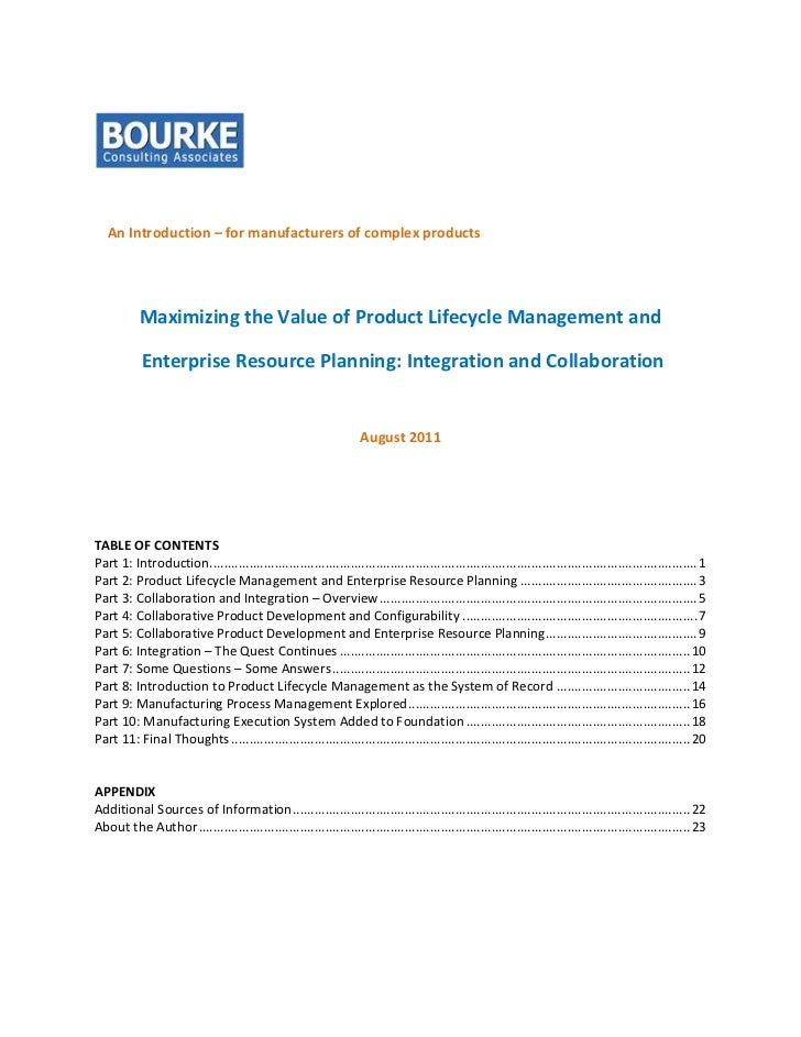 ERP and PLM Integration Considerations by Richard Bourke