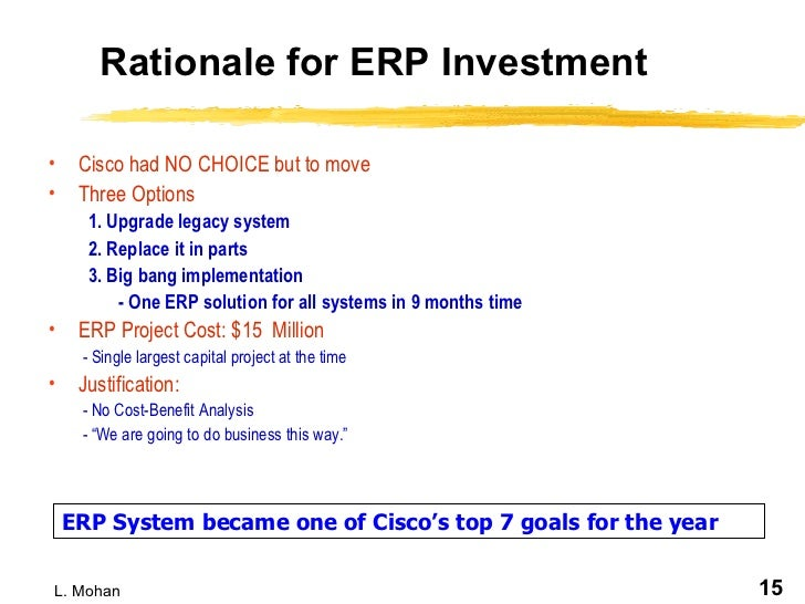 cisco case study implementing erp