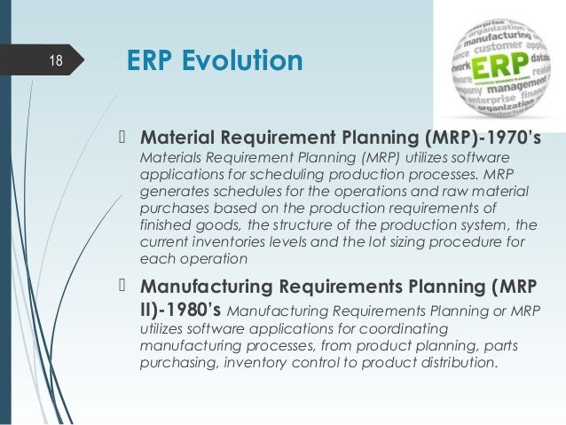 expansions of material requirements planning