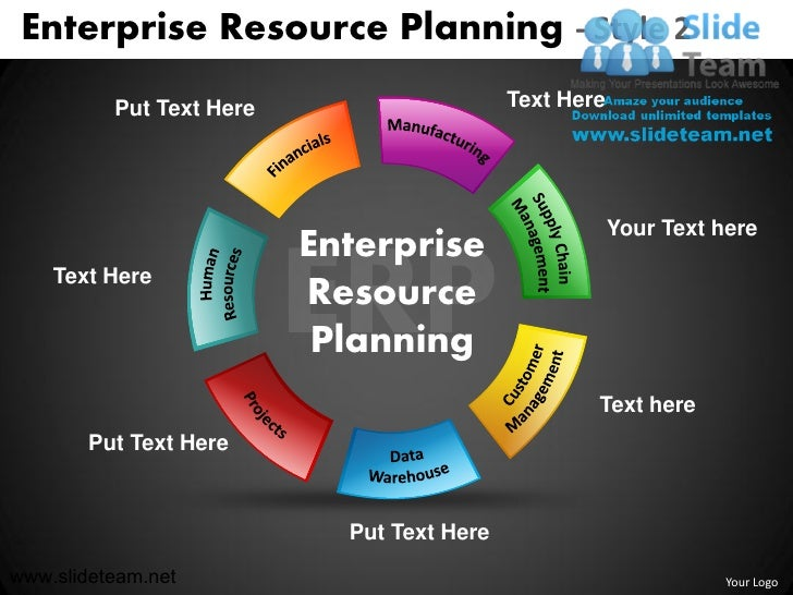 Enterprise Resource Planning - Style 2 Put Text Here Text Here ...