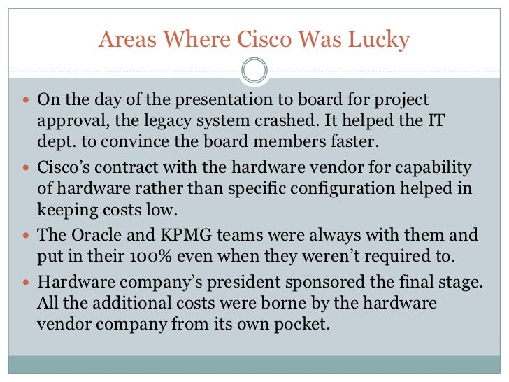 cisco erp case study answers Online cisco systems case study sample free example of a case study on cisco topics professional tips how to write great case studies and analysis.