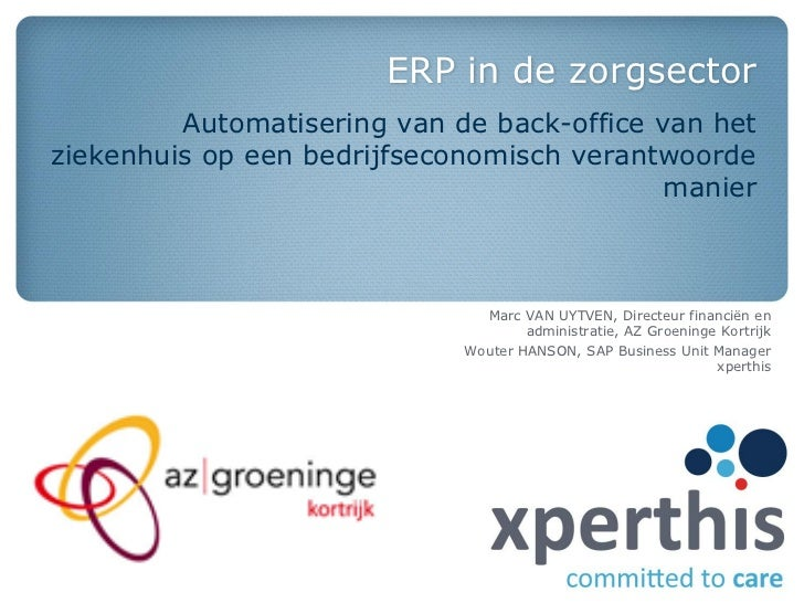 [Dutch] ERP in de zorgsector