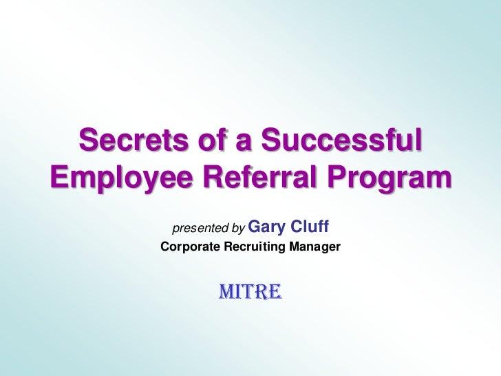 recruitDC presentation by Gary Cluff