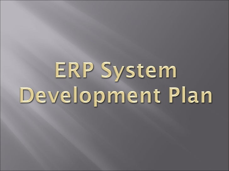 ERP System Development Plan