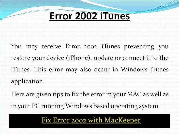 How To Fix iTunes Error 2002