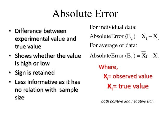 Absolute Error and Relative Error Calculation - ThoughtCo