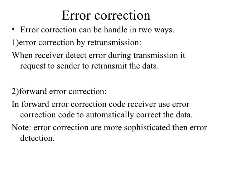 Error correction essay