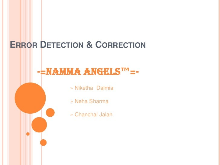 Error Detection N Correction