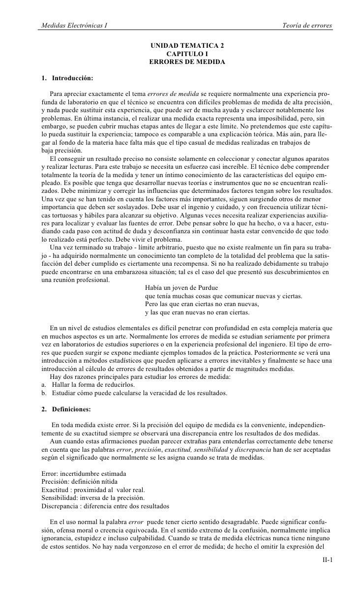 Medidas Electrónicas I                                                                 Teoría de errores                  ...