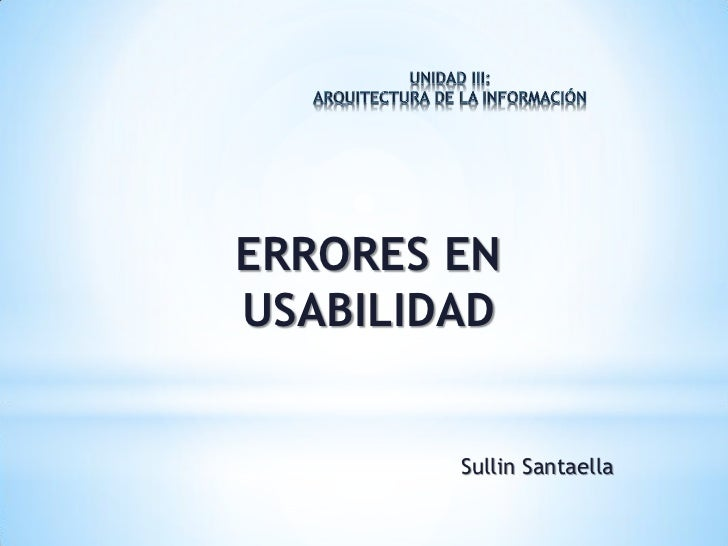 Errores en la usabilidad