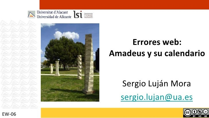 Errores web: Amadeus y su calendario