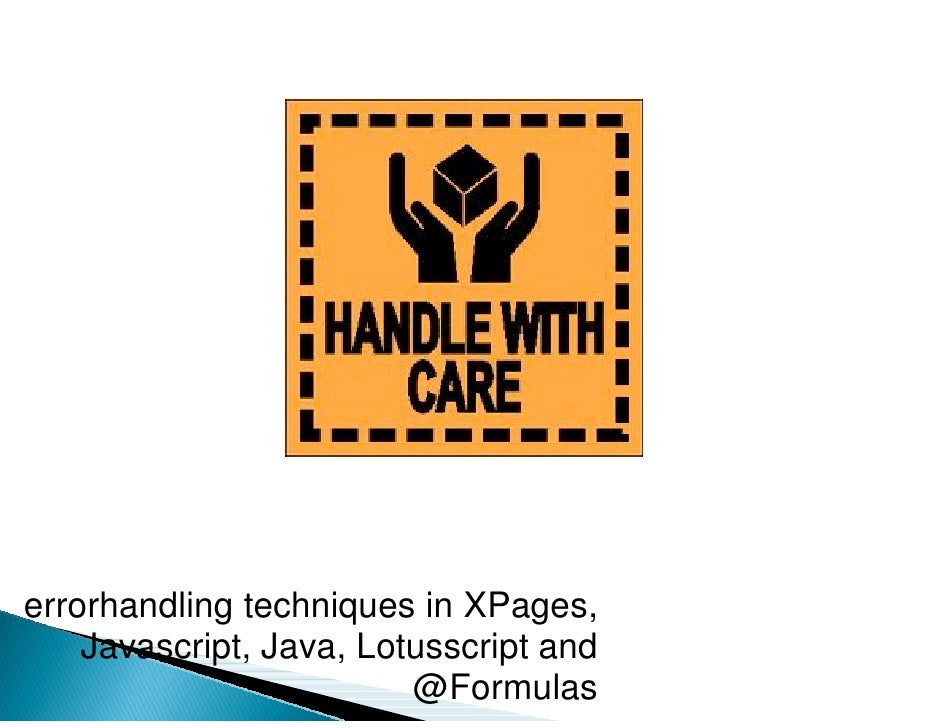 Error handling in XPages