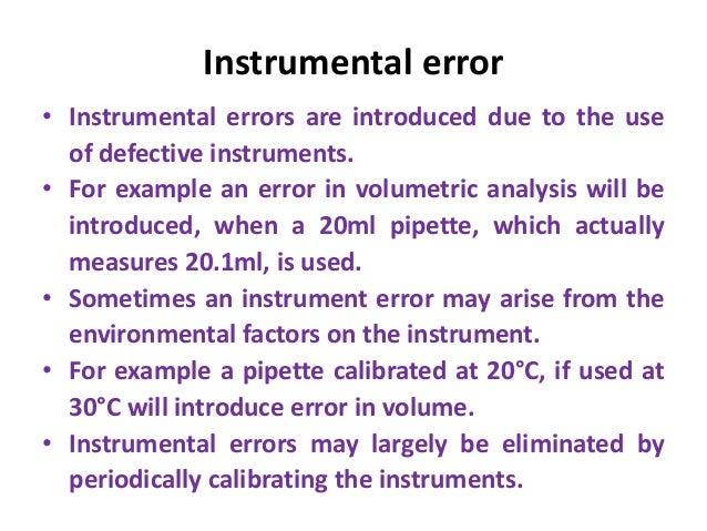 Example an Error in