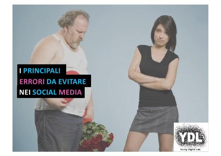 Young Digital Lab: Errori nei social media