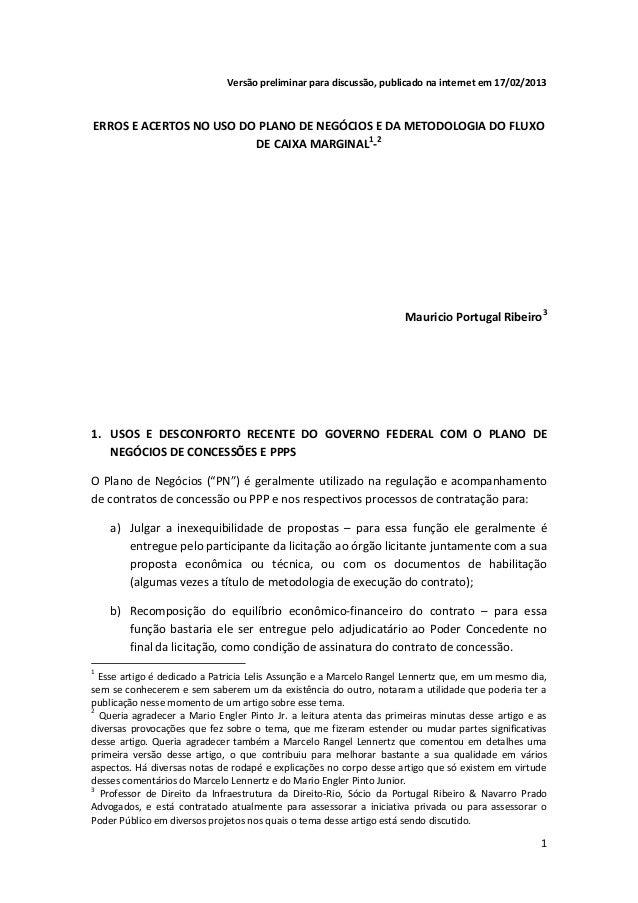 Versão preliminar para discussão, publicado na internet em 17/02/2013ERROS E ACERTOS NO USO DO PLANO DE NEGÓCIOS E DA METO...