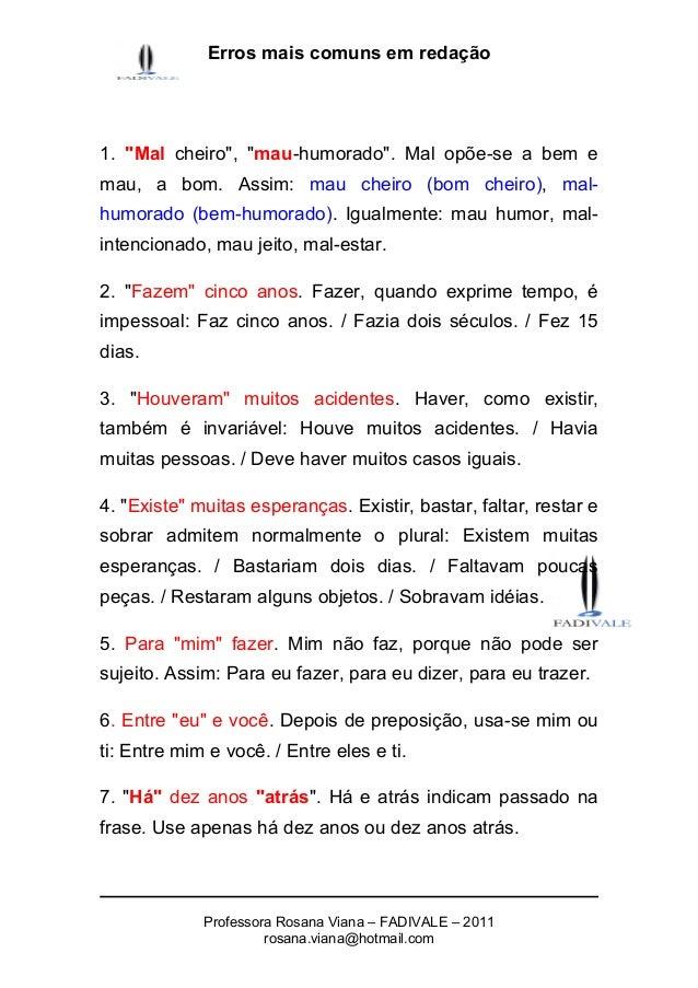 erros mais comuns em redação Errosgramaticaiseortograficosmaiscomunsemredacao-anteriorareforma-1-1-638
