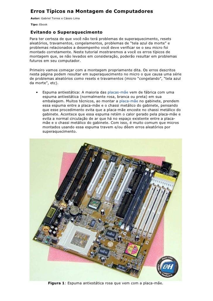 Erros montagem computadores