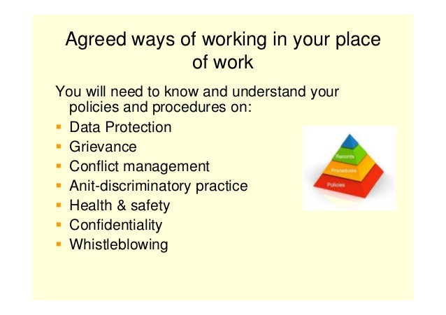 agreed ways of working anti discriminatory practice P5 explain how working in health and social care settings can actively promote anti-discriminatory practice principles and values to be respected to be.