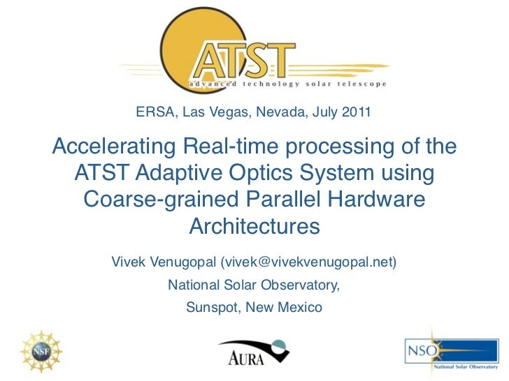 Accelerating Real-time processing of the ATST Adaptive Optics System using Coarse-grained Parallel Hardware Architectures