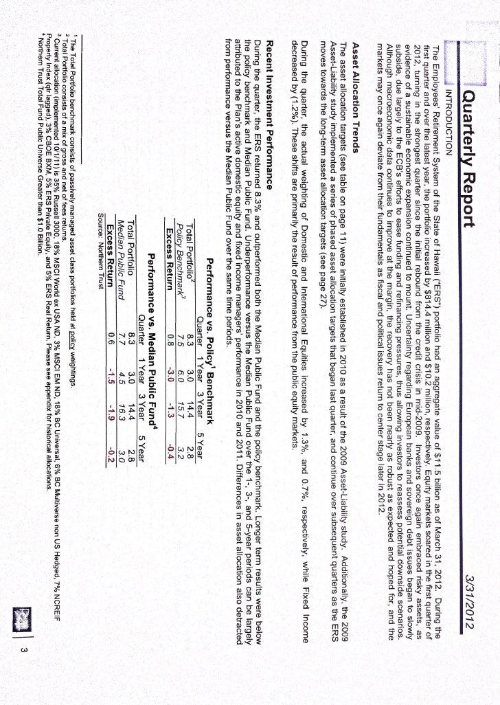 ERS Q1 2012 report