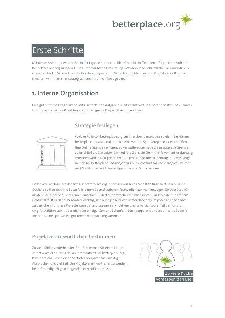 betterplace.org: Erste schritte