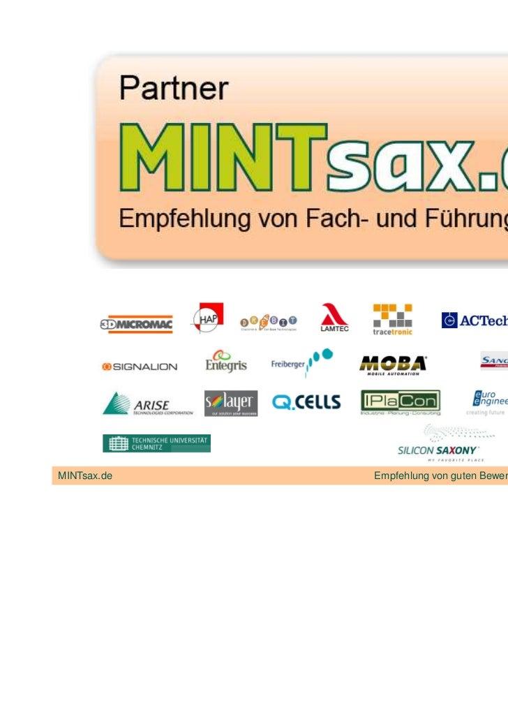 MINTsax.de   Empfehlung von guten Bewerbern, Fachkräften und Studenten