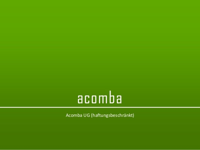 acomba  acomba  Acomba UG (haftungsbeschränkt)